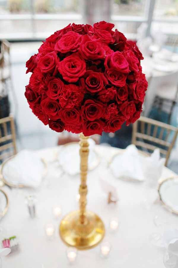 Best red flowers images on pinterest bridal bouquets