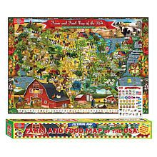 T.S. Shure Farm and Food Map of the USA Pictorial Poster