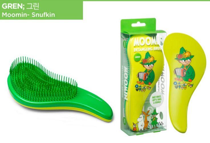 Moomin Styling Magic Detangling Handle Tangle Hairbrush Tamer - GREEN #Moomin
