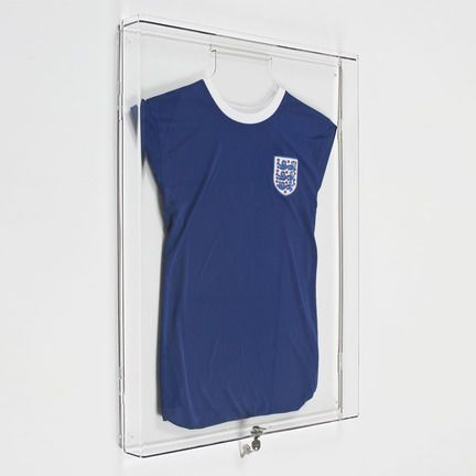 Lockable wall mounting T shirt display cases perfect for displaying and protecting sports team shirts and signed T shirts £66.49 | Luminati