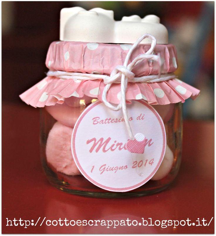 Cotto e Scrappato: Le bomboniere del Battesimo di Miriam..1...2...3!!