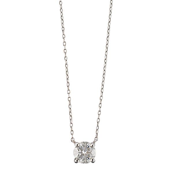 Tiffany & Co. Solitaire diamond pendant on a platinum necklace. (simple and beautiful ~ Thanks ^3^)