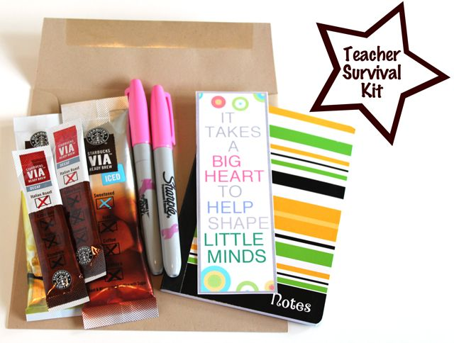 25 best thank you teacher gifts images on pinterest teacher appreciate your favorite teacher with a diy survival kit solutioingenieria Image collections