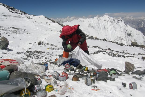 Is this the world's highest trash dump?
