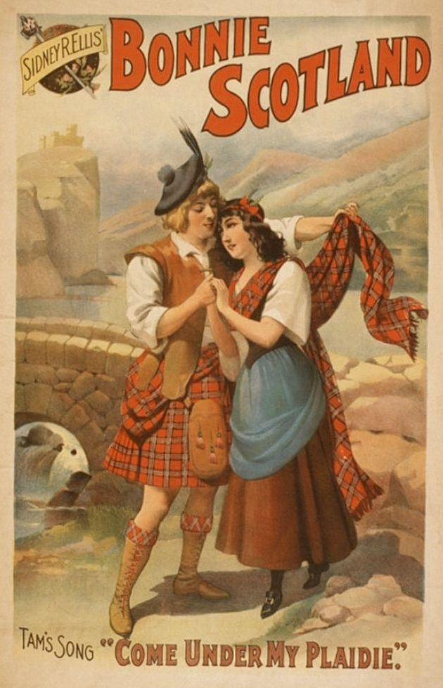 "Bonnie Scotland Vintage sheet music. Tam's Song ""Come under my Plaidie"""