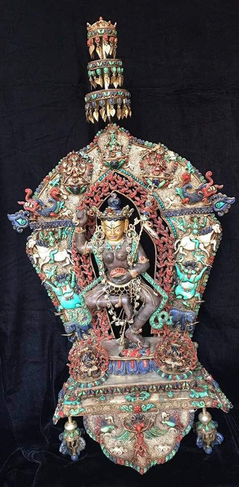 Masterpiece Nepal Vajrayogini Sterling Silver Ruby Gem inlay lapis coral turquoise Shrine Statue by NepalArtsNCrafts on Etsy https://www.etsy.com/listing/503867864/masterpiece-nepal-vajrayogini-sterling