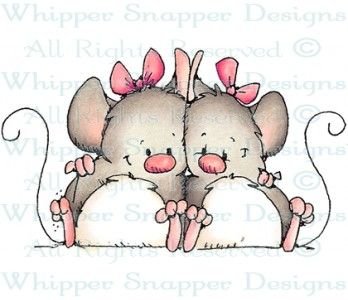 Yin & Yang - Mice - Animals - Rubber Stamps - Shop