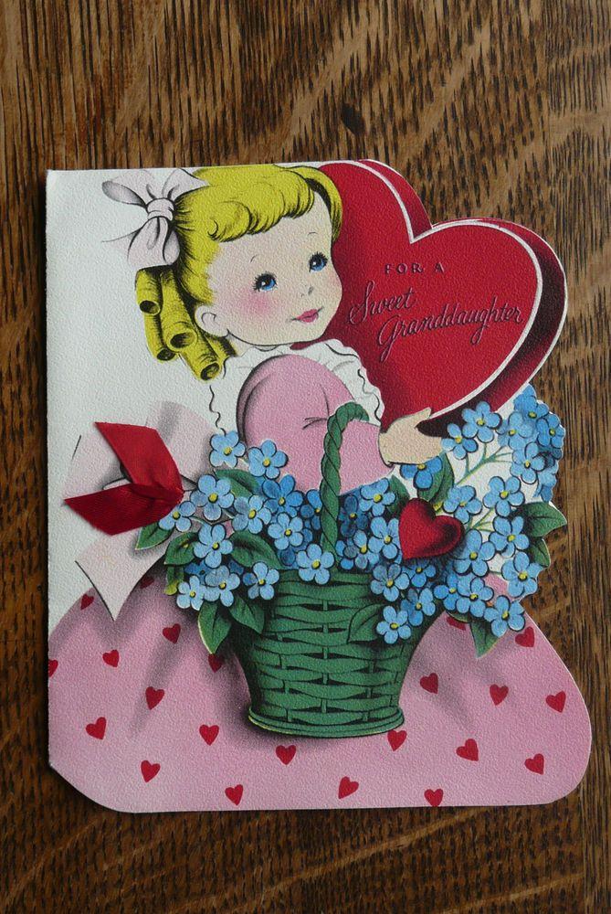 1677 best images about VALENTINES GIRLS VINTAGE – Granddaughter Valentine Card