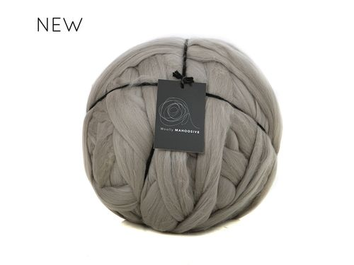 Silver super chunky giant merino yarn extreme knitting big wool yarn.jpg