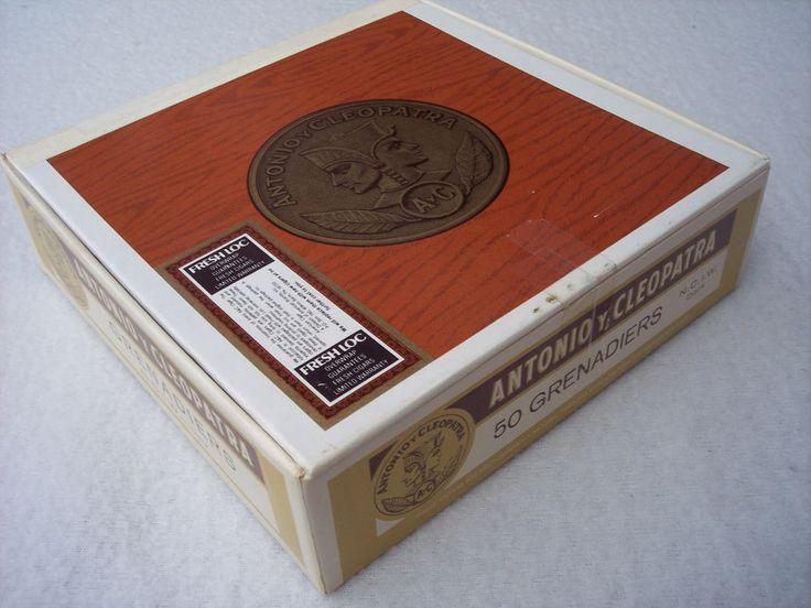 Empty Cigar Box Antonio y Cleopatra Paper Covered Colorful | eBay