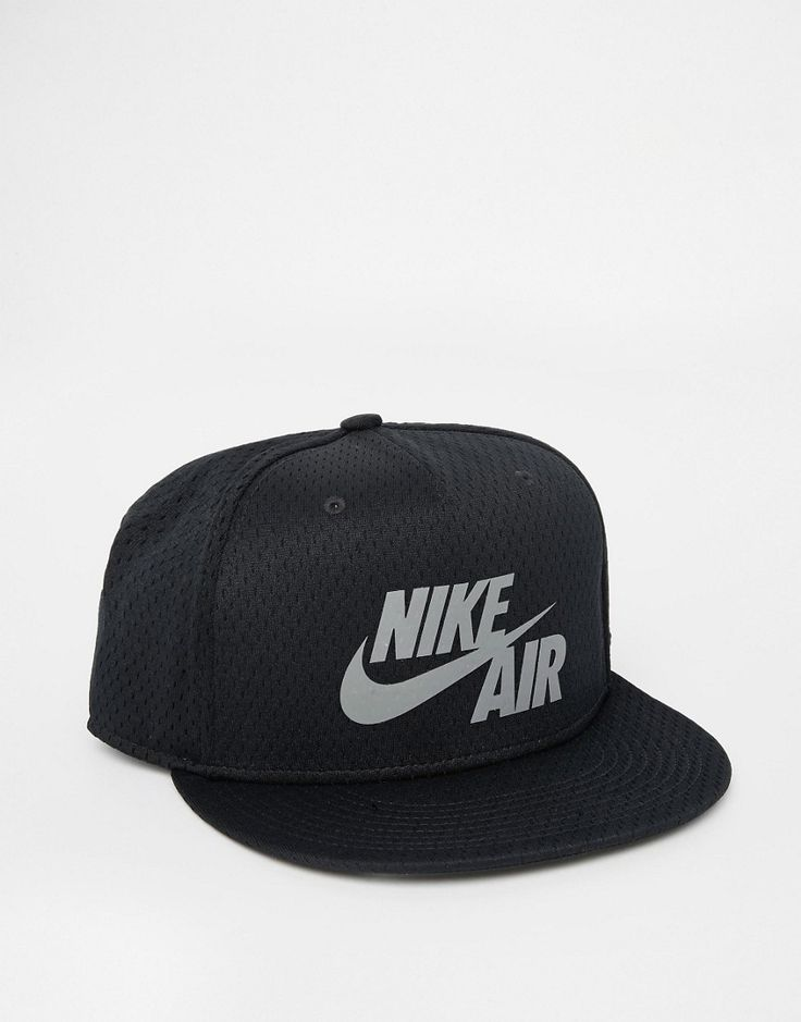 Lækre Nike Air Pivot Mesh Snapback Cap 729497-010 - Black Nike Kasketter & Hatte til Herrer til hverdag og fest