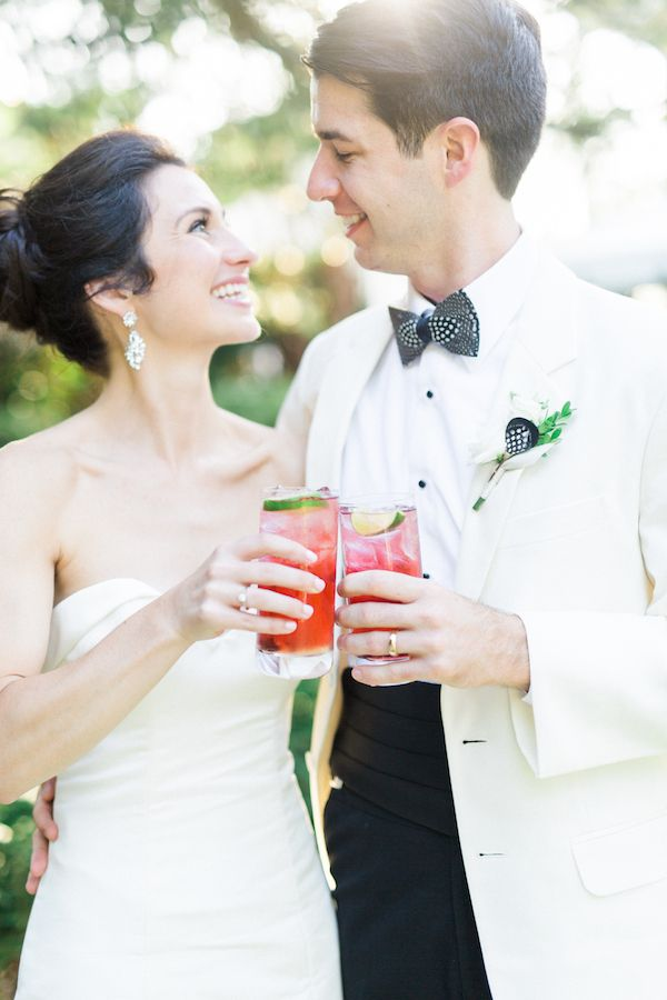 Signature cocktails at Ellis & Steven's southern wedding at the William Aiken House | Charleston, SC | Photo by Catherine Ann Photography