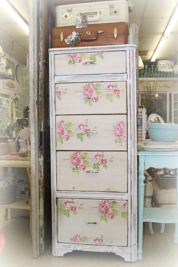 upcycled shabby dresser by PrimroseandCompany on Etsy, $425.00