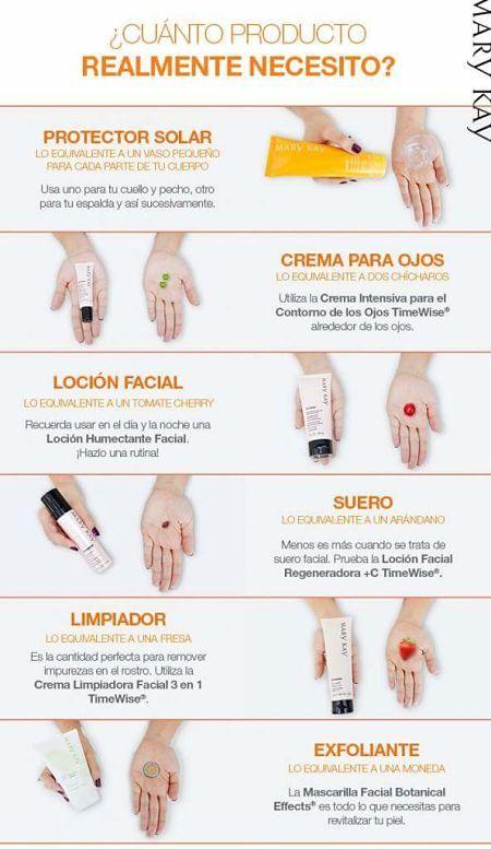 ¿Qué cantidad de #producto de cada #cosmético es adecuado aplicar? En www.rincondebelleza.com