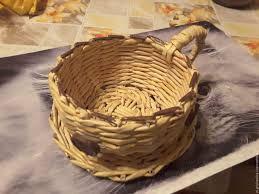 Risultati immagini per мастер класс по плетению чашки-конфетницы