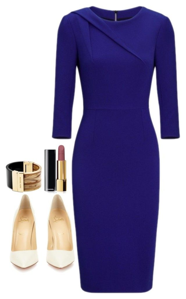 """Jessica Pearson Inspired Sets"" by daniellakresovic ❤ liked on Polyvore featuring Roland Mouret, Christian Louboutin, Chanel and Michael Kors"