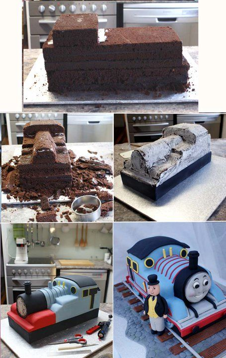 thomas the train 3d cake