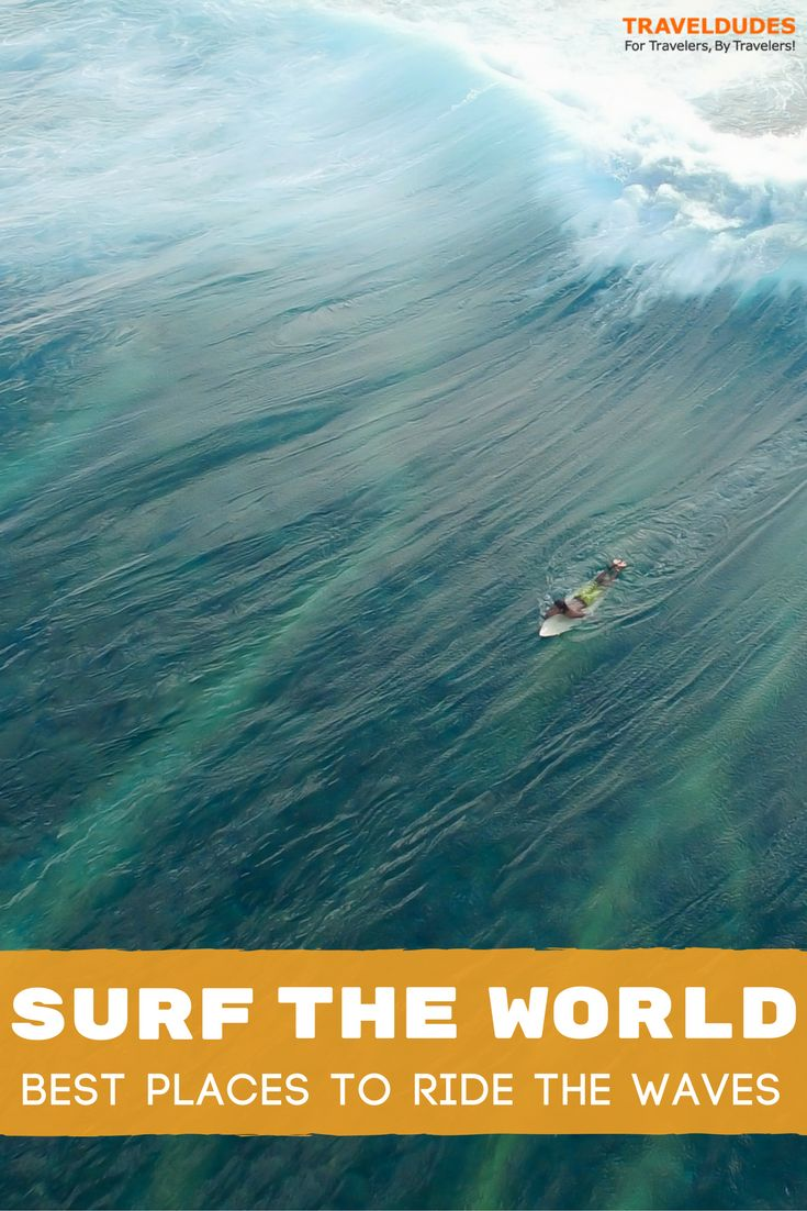 The ultimate travel bucket list for surfers. This guide contains the best surfing destinations around the world, from South Africa to New Zealand to Costa Rica and Hawaii. Surf your heart out! | Travel Dudes Travel Community