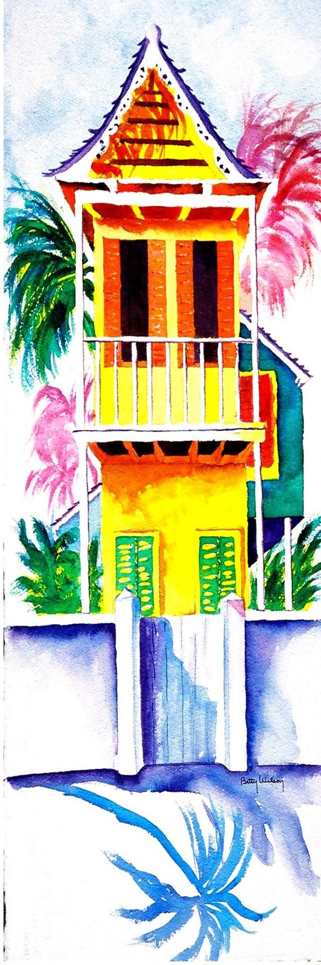 Watercolor artist magazine palm coast fl - Keywest Cottage By Terry Madden Terrymadden Com Small Artflorida