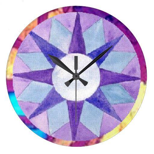 Colorful Shapes Wall Clock