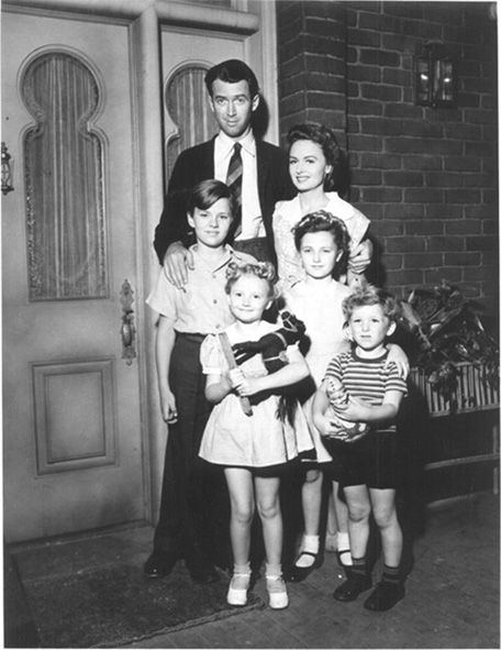 "A rare picture of the Baileys, the film family from the #1940s #holiday classic ""It's a Wonderful Life"""
