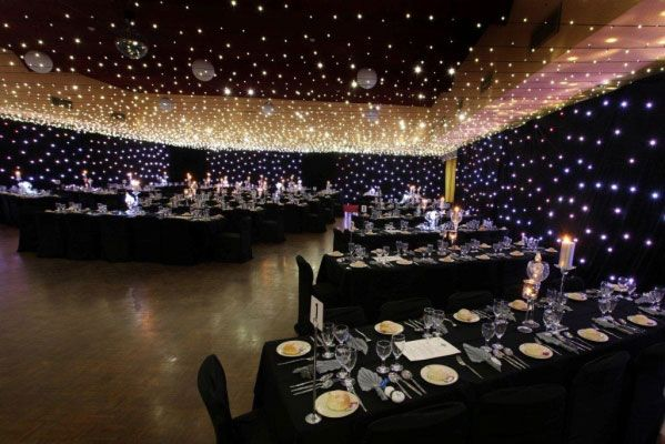 Incredible light display for Star Wars themed reception decor