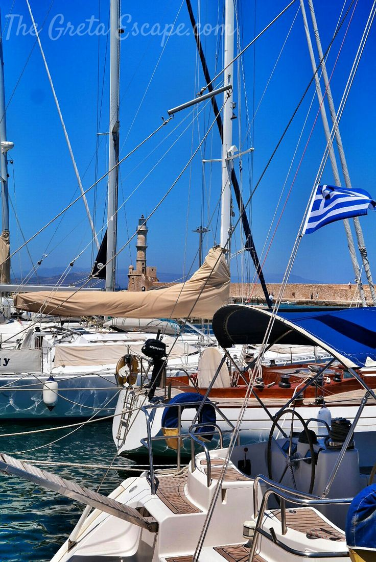 Pier and lighthouse in Chania, Crete
