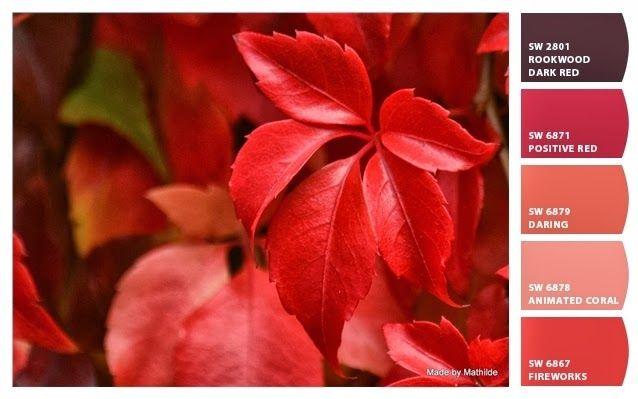 Rode bladeren Made by Mathilde