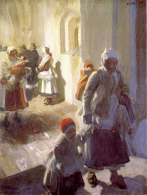 Christmas Morning Service                                        Anders Zorn    - 1908