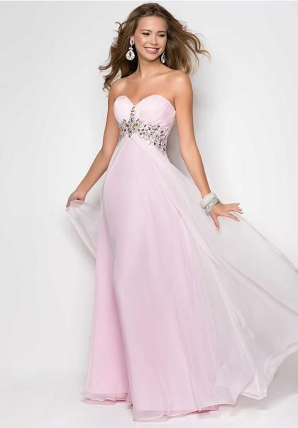 Blush Dress 9545 at Peaches Boutique