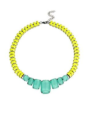 ASOS Faceted Bead Collar Necklace