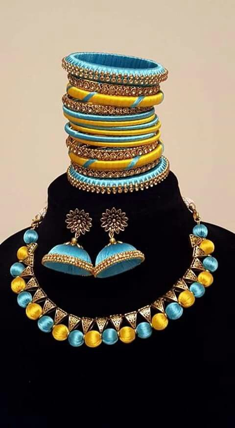 #Silk thread jewellery #cityfashions  To order plz WhatsApp on +91 9703713779