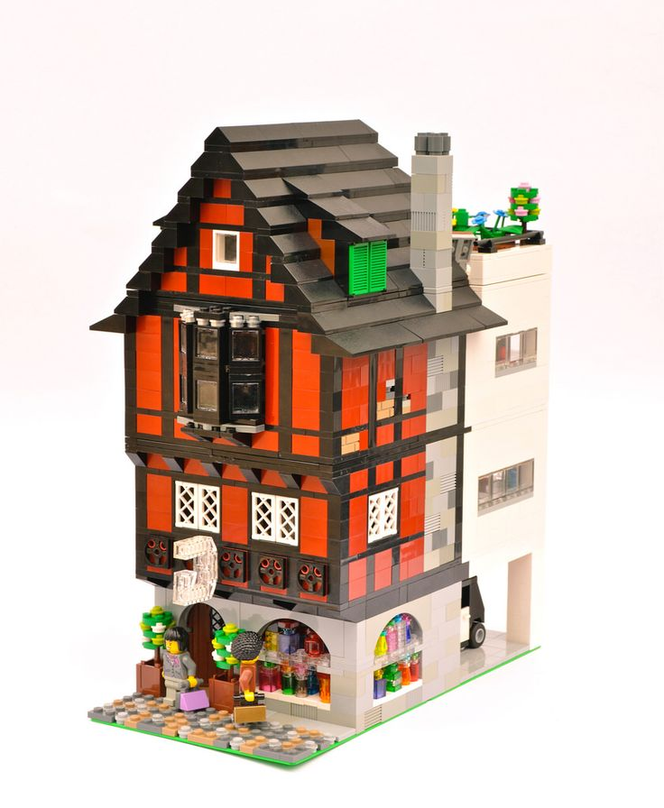 A modern version of one of my old half timbered houses.