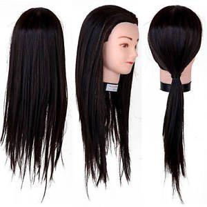 a 22 pelo salon peluqueria formacion cabeza maniqui practica marron cabello
