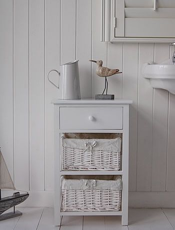 The New Haven bathroom storage free standing cabinet with 2 basket drawers  and a wooden drawer. 64 best Bathroom Cabinets images on Pinterest   White bathrooms