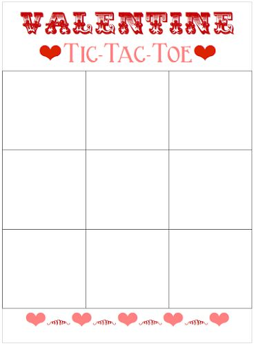 Valentine Tic-Tac-Toe (Printable) | Paper Crafts & Templates, Tips ...