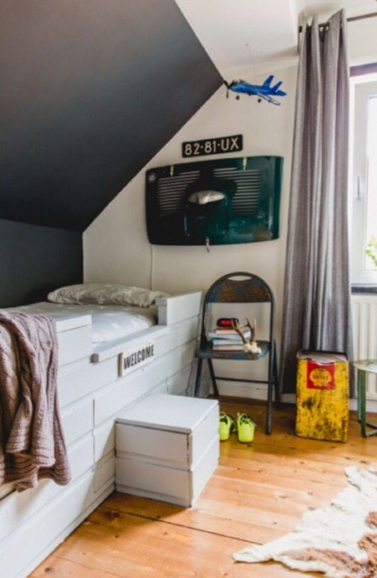 """This teenage boys bedroom is from our feature """"Vintage Tales"""""""