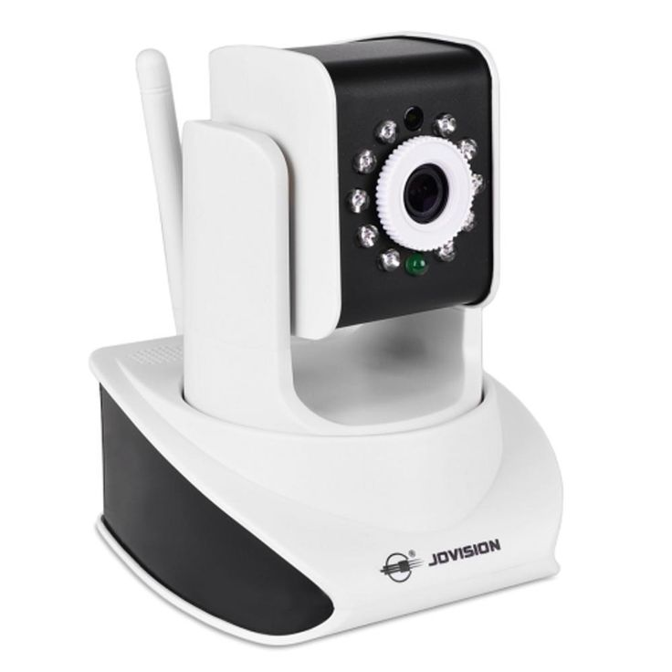 Jovision JVS-H411 720p Pan-Tilt Wi-Fi IP Camera w-10 IR LEDs 2-Way Audio microSD Card Slot & iOS-Android Support