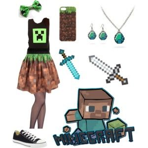 #minecraft #outfit #green #pin #pinterest #kawaii