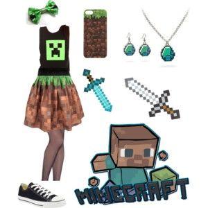 #minecraft #outfit #green #pin #pinterest #kawaii