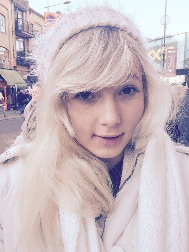 Selfie while shopping in Camden market in London