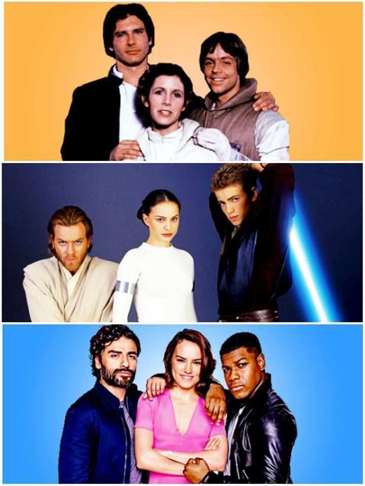 Star Wars Trios... #StarWars  /  #SLCC15 tickets are on sale now: http://saltlakecomiccon.com/slcc-2015-tickets/?cc=Pinterest