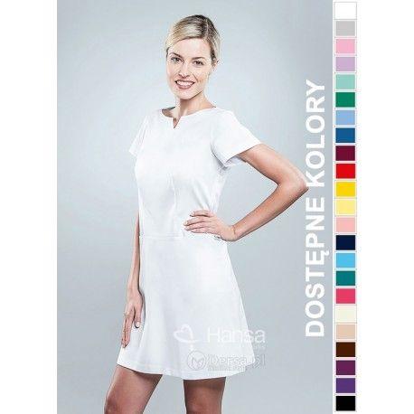 Sukienka Medyczna Hansa 0206 | Odzież damska | Dla lekarzy, farmaceutek i pielęgniarek. | Sklep internetowy Dersa |