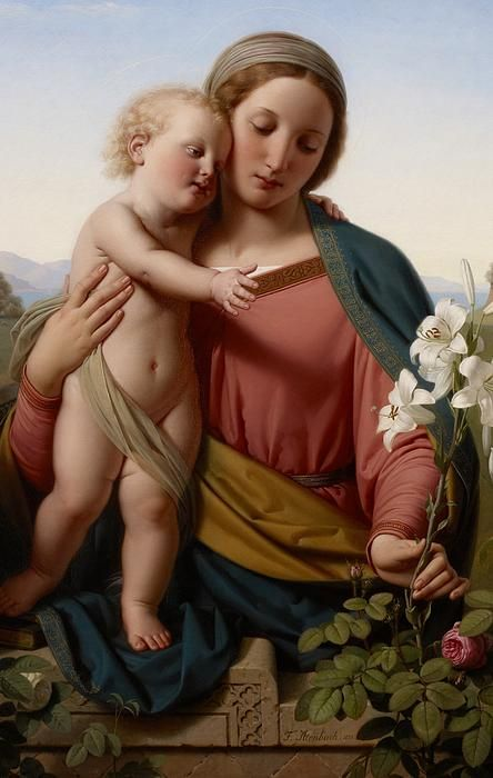 Madonna and Child, 1855 (oil on canvas), Ittenbach, Franz (1813-79) / Minneapolis Institute of Arts, MN, USA / The Bridgeman Art Library