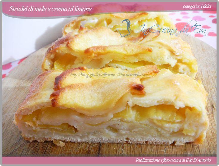 Strudel di mele e crema al limone