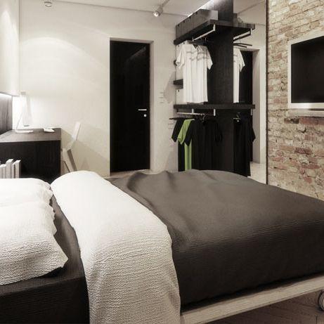 Bedroom design in Katowice, POLAND - archi group. Sypialnia w domu jednorodzinnym w Katowicach.