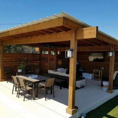 Contemporary Poolside Pergola Cover in Bee Cave, TX