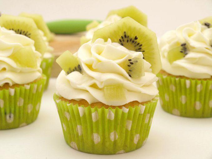 Cupcakes de kiwi - MisThermorecetas