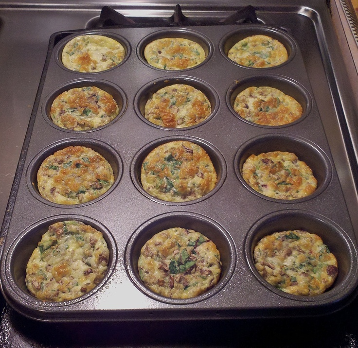 Crustless Mini Quiches Blend Six Eggs With Half A Cup Of