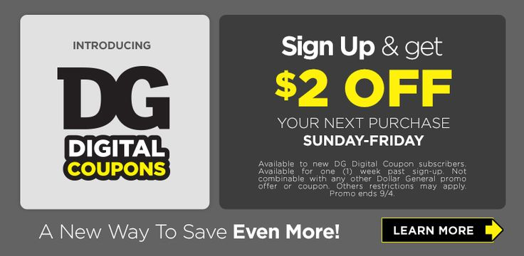 Sign Up for Dollar General Digital Coupons and Get $2